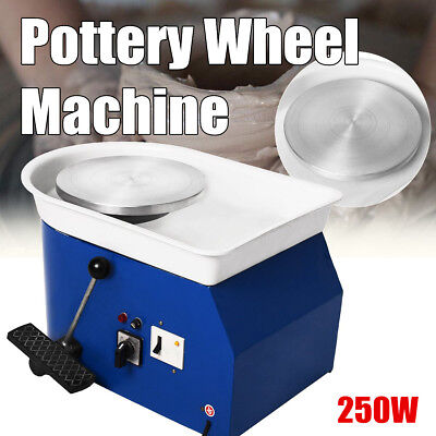 250W 25CM Electric Clay Pottery Wheel Machine Kits Ceramic Sculpting Turntable