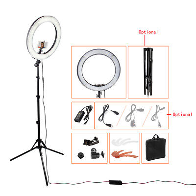 """55W 5500K 240 LED SMD 18"""" Dimmable Photography Ring Light Camera Lighting 4800LM"""