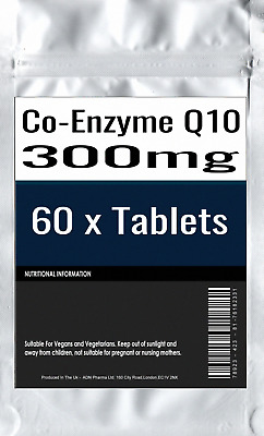 60 x Co-Enzyme Q10 CoQ10 300mg HIGH STRENGTH Energy Heart Supplement