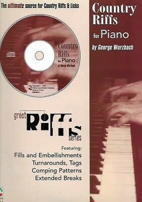 Partition & CD Piano - George Wurzbach - Country Riffs