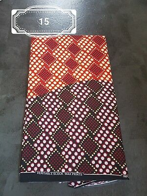 African Cotton Fabric Ankara Wax Print  Beautiful Design  - SALES CLEARANCE