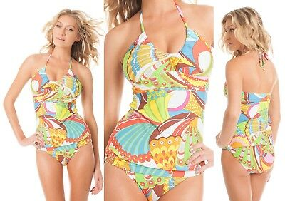 d28f54c649f37 $168 Trina Turk Santa Cruz Tankini Top 8 & Buckle Bottom 10 Swimsuit Swim  Set