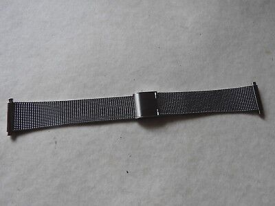 New Old Stock 18-22Mm  Stainless Steel Gents Milanese Watch Strap