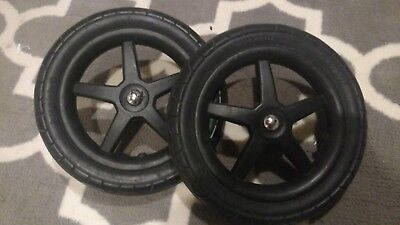 """Pair (2) Bugaboo Cameleon3 Stroller rear replacement 12"""" wheels - Foam Filled"""
