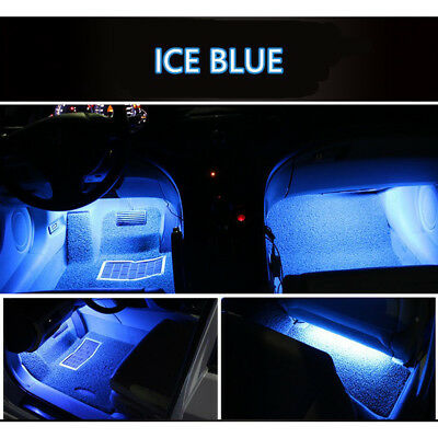 4x Ice Blue 9LED Charger Interior Light Accessories Car SUV Floor Decorative Set