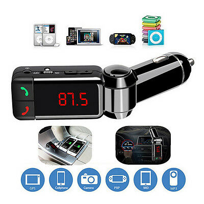 Auto Car Dual USB Bluetooth FM Transmitter MP3 Radio Player USB Charger & AUX