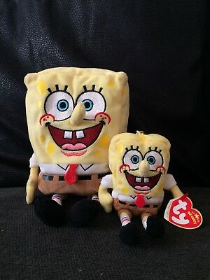 a895ba1916f TY BEANIE babies Spongebob Squarepants and keyring - new with tags ...