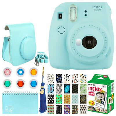 Fujifilm Instax Mini 9 Instant Camera (Ice Blue) + Instax 20 - Graduation Kit!