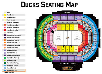 4 Anaheim Ducks Vs Winnipeg Jets Tickets  3/20 Lower 204 Row Q Aisle