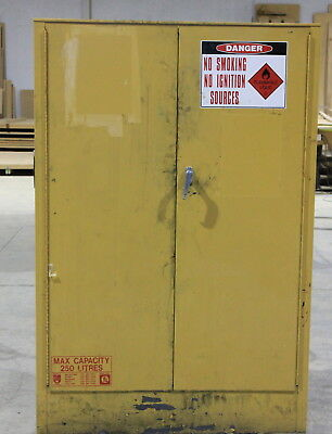 Flammable liquids paint storage cabinet used 250 litres