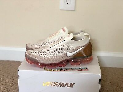 056091434da3e Nike Air Vapormax Flyknit Moc 2 Sail Anthracite Sand Wheat Mens sizes  AH7006 100
