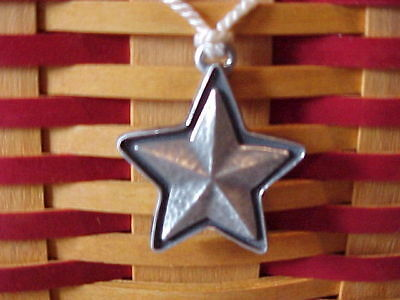 Longaberger Collector's Club 2001 WHISTLE STOP Tie On ~ STAR with Tassle Tie
