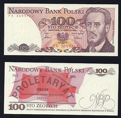 Polonia / Poland - 100 zlotych 1986  qFDS/UNC-  A-06