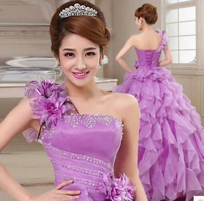 Womens Wedding Gown Quinceanera Dress Formal Party Pageant Ball Bridal Stylish