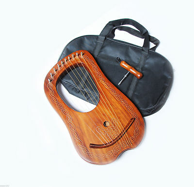 Traditional Harp Lyre Harp 10 Metal Strings With Free Key And Bag