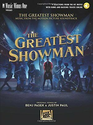 """The Greatest Showman: Music Minus One-Vocal"" MUSIC BOOK/AUDIO ACCESS-BRAND NEW!"