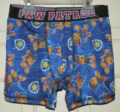 New Boys size 8 Medium Paw Patrol Boxer Briefs 2 Pack Blue and Red Polyester