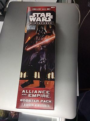 STAR WARS Miniature Alliance empire  Booster Pack Box Factory Sealed X WING