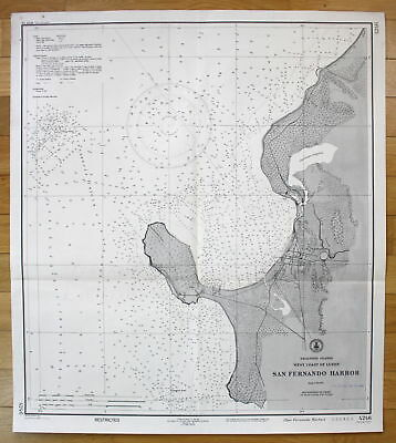 1943 Philippine Islands - West Coast of Luzon - San Fernando Harbor Asia map