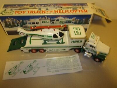 1995 HESS Toy Truck and Helicopter with Box in Very Good WORKING condition