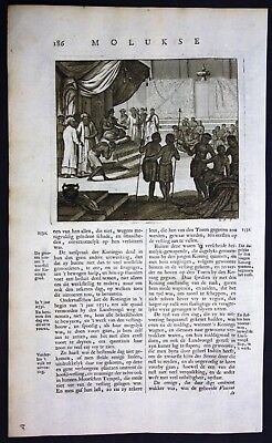 1726 - Maluku islands Moluccas Indonesia king emperor Valentijn engraving