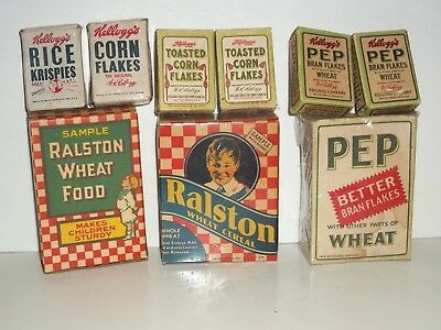 1930s Sample RALSTON PURINA WHEAT CEREAL Box BOY St Louis FREE SIZE Checkerboard