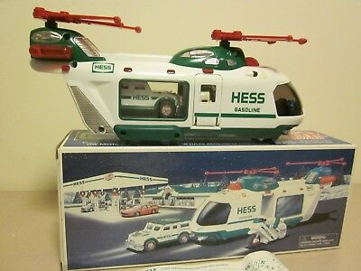 2001 HESS Helicopter with Motorcycle and Cruiser with Box