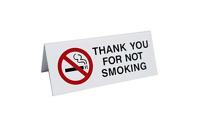 No Smoking Plastic Table Tents 10 signs per pack, Free Shipping