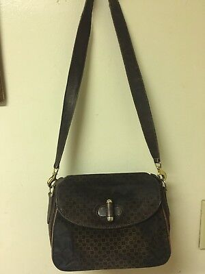 9e8e07d792a VINTAGE GUCCI VERY Rare Leather And Suede G Square Brown -  99.00 ...