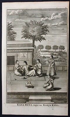 1726 India Philippines Radja Rana Empress engraving Portrait Valentijn