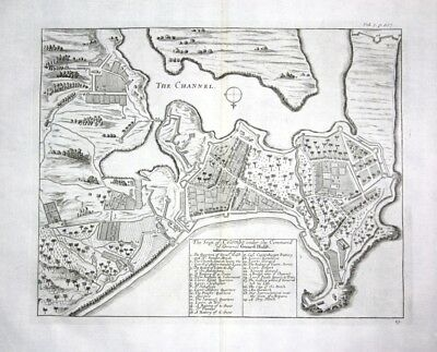 1730 Colombo Columbo Sri Lanka city plan map - Kupferstich / engraving map Karte
