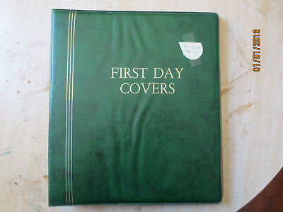 No-54 - FDC  ALBUM   25  PAGES  DOUBLE  SIDED -3  RING  BINDER--GOOD ORDER