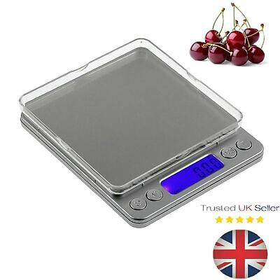 Modern Digital LCD Kitchen Food Weighing Postal Scales Balance Planar 0.01g-500g
