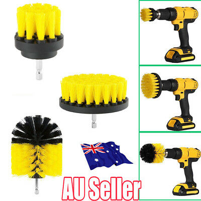 Grout Power Scrubber Cleaning Drill Brush Tub Cleaner Combo Tool Kit Yellow MN