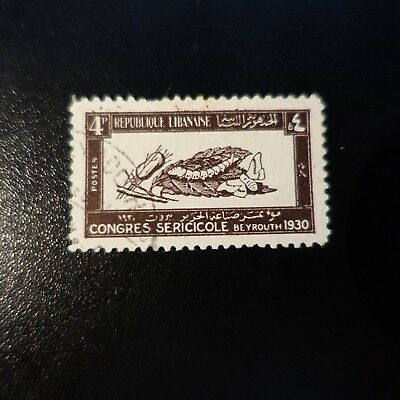 France Colony Grand Lebanon N°122 Obliteration Stamp Has Date Value