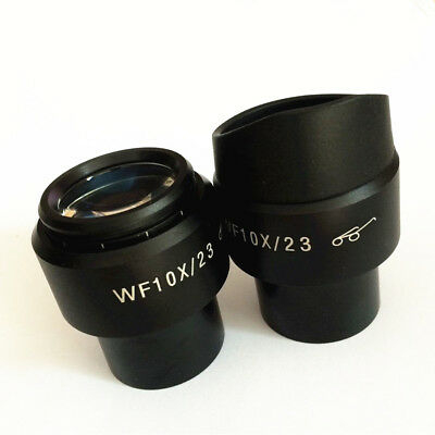 WF10X 23mm Wild Angle Eyepiece Diopter Adjustable with Eyeguards 30mm Diameter