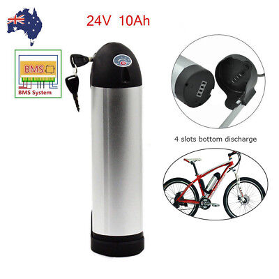 24V 10Ah Bottle Lithium Li-ion Battery Pack for 200W Electric Bicycle E-bike AU