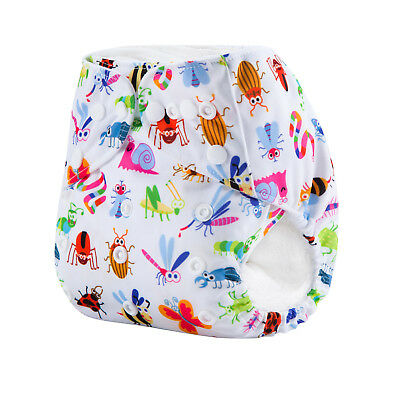 Modern Cloth Nappies Reusable Adjustable Diapers Crazy Critters Shell
