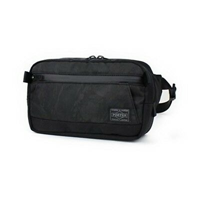 0f8ae5641f NEW YOSHIDA PORTER DARK FOREST WAIST BAG(S) 659-05148 Black tracking From