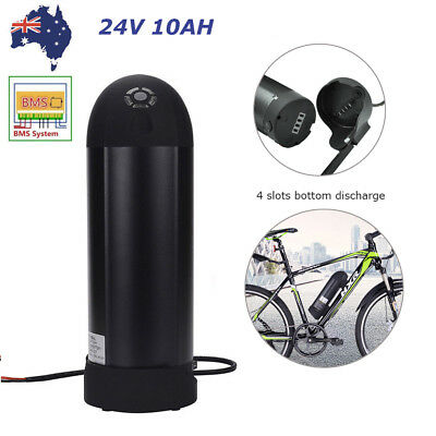 24V 10.4Ah 200W Black Bottle Lithium Battery Pack for E-Bike Electric Bicycles