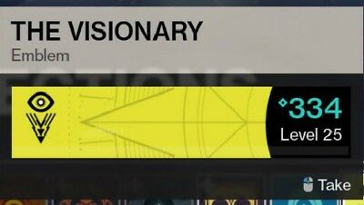 Destiny 2: THE VISIONARY Emblem Code Very Rare Bungie (Xbox, PS4, PC)