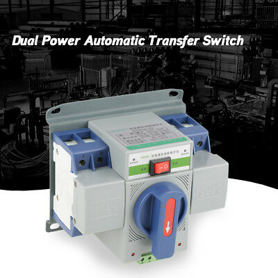 New 1pc 63A 2P Dual Power Automatic Transfer Switch Mini