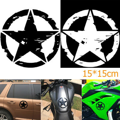 15*15cm ARMY Star Graphic Decals Motorcycle Vinyl Car-styling Car Stickers HOOT