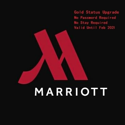 Marriott and SPG Gold Status Upgrade No Password Required until Feb 2020
