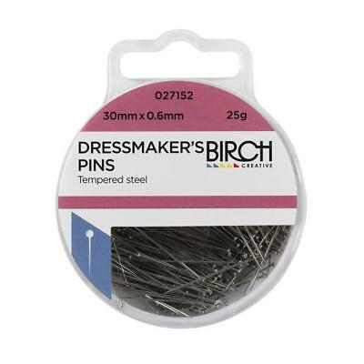 Birch Dressmaker's Pins - 30mm x 0.6 mm - 25grams