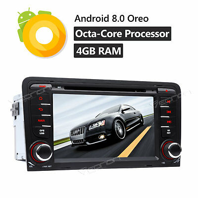 """For Audi A3 S3 2DIN 7""""Car DVD Player Touch Screen GPS Navi HDMI 4G Android 7.1 W"""