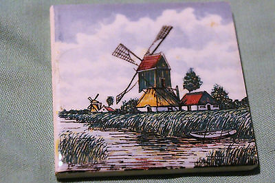 Holland Delft ? Tile Ceramic  Decorative Colorful  Vibrant Beautiful Piece Look!