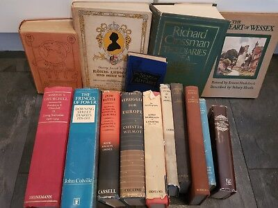 Joblot of 15 vintage and antique hardcover books
