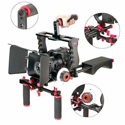 Newest Film Movie Kit System Support Rig Video Cage for Canon Nikon Sony DSLR