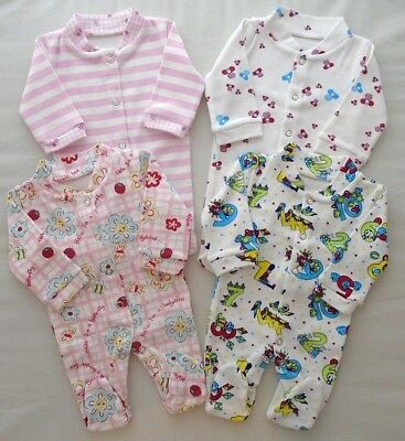 Premature Tiny Baby Sleepsuit 3-5lbs 5-7lbs Girl Boy Babygrow Handmade Cotton